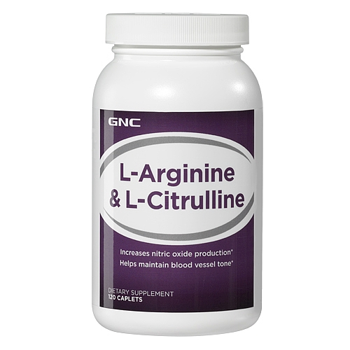 GNC L-Arginine & L-Citrulline 120 Caplets Item #164522 gnc women s ultra mega active without iron 90 caplets free shipping u s a original imported