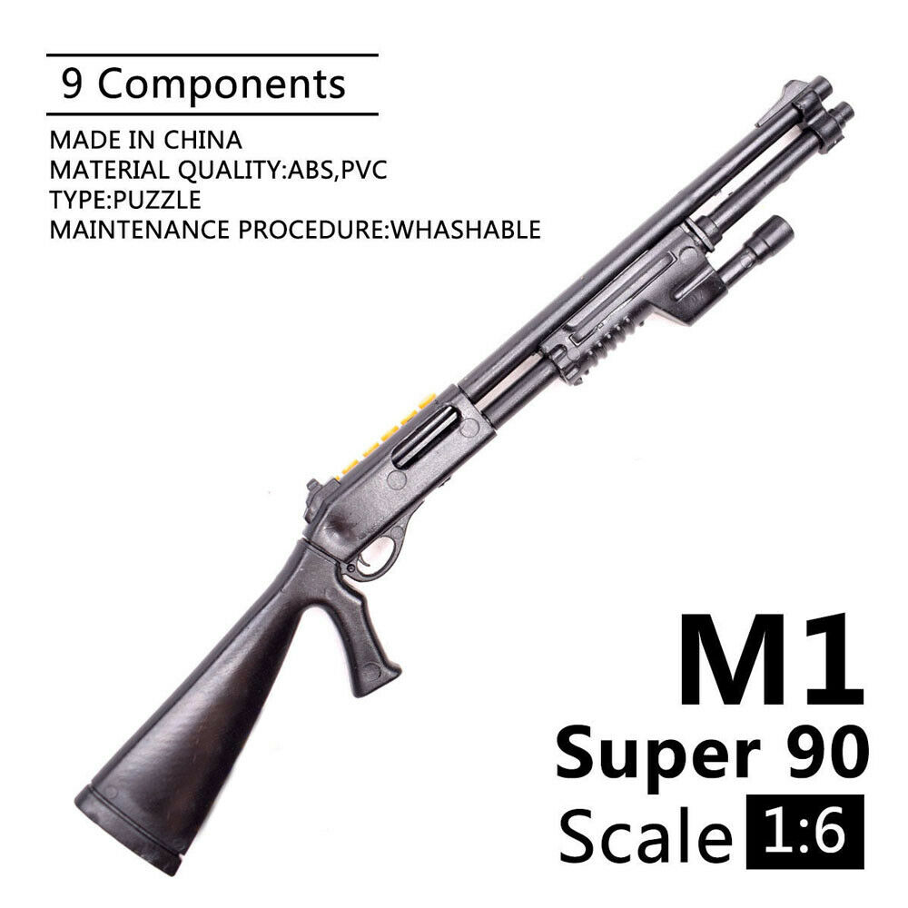 1:6 Weapon Model Benelli M1 Super 90 Shot Gun Assembly Model Assembly Toys Puzzles Building Bricks For Action Figures
