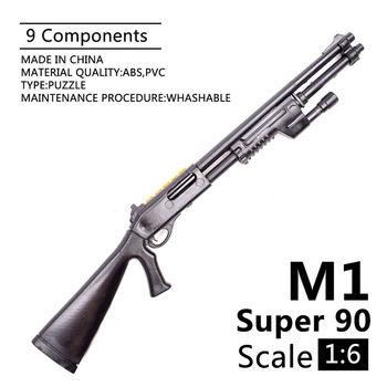 1:6 Weapon Model Benelli M1 Super 90 Shot Gun Assembly Toys Puzzles Building Bricks For Action Figures - discount item  19% OFF Building & Construction Toys