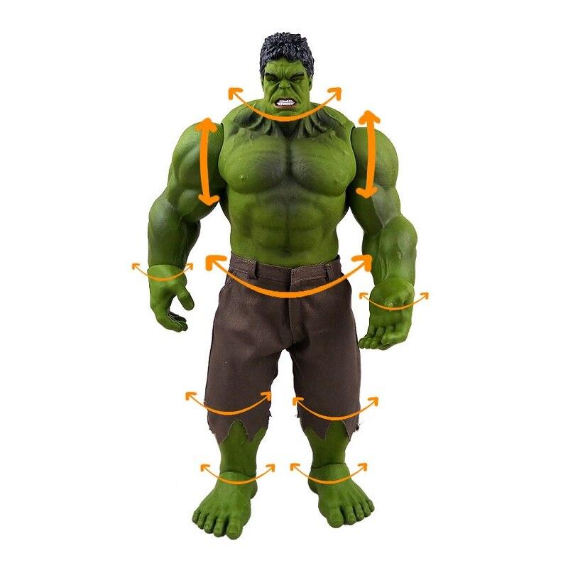 42 cm film chaud les Avengers Hulk Pvc Anime Figure jouet dessin animé Hulk bras tête jambe corps mobile Brinquedos cadeau