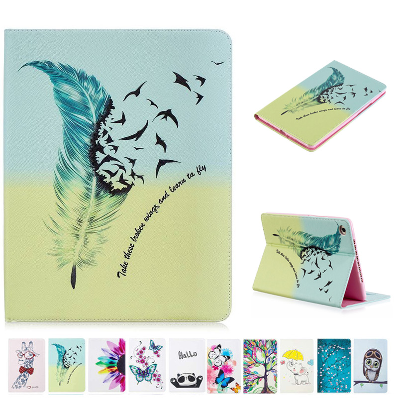 3D Fashion Painting Leather Case For Samsung Galaxy Tab A 8.0 T380 T385 2017 Smart Cover For Tab A 8.0 Inch Tablet Case+Film+Pen