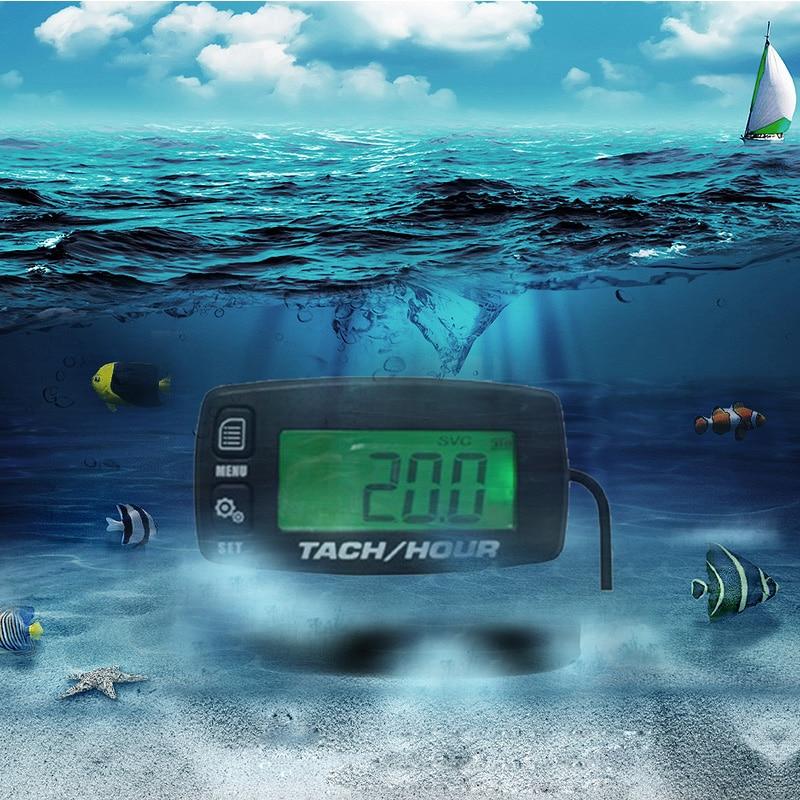 Engine Maintenance Alert waterproof Resettable Engine Hour Meter RPM Indicator for Quad ATV 10pieces lot Free
