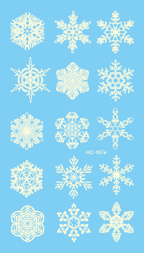HC1187e Women Sexy Flash Fake Tattoo Stickers White Snowflake Winter Christmas Design Water Transfer Temporary Tattoo Stickers