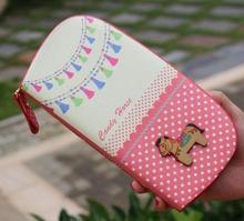 12 carte anime mignon cheval long portefeuille 2017 femmes de bande dessinée zipper en cuir designer portefeuille pour femme portefeuille de marques 45