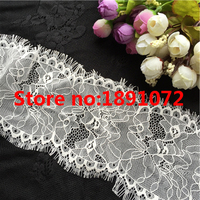Exquisite Quality 3meters size 9.5cm Handmade Eyelash Trim African Lace Fabric Sewing For DIY Decoration Garment Accessories