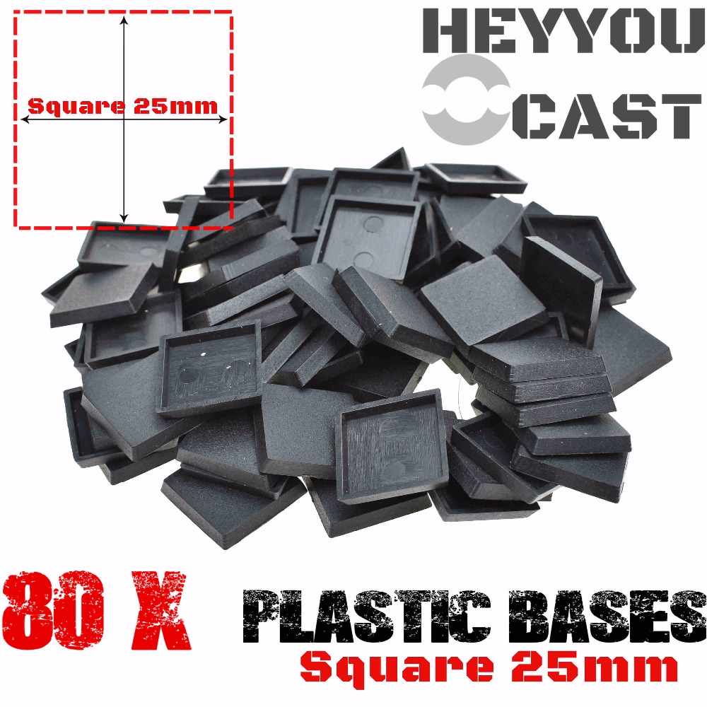 Lot Of 80 25mm Square Bases For Miniatures And Wargame Model Bases NEW