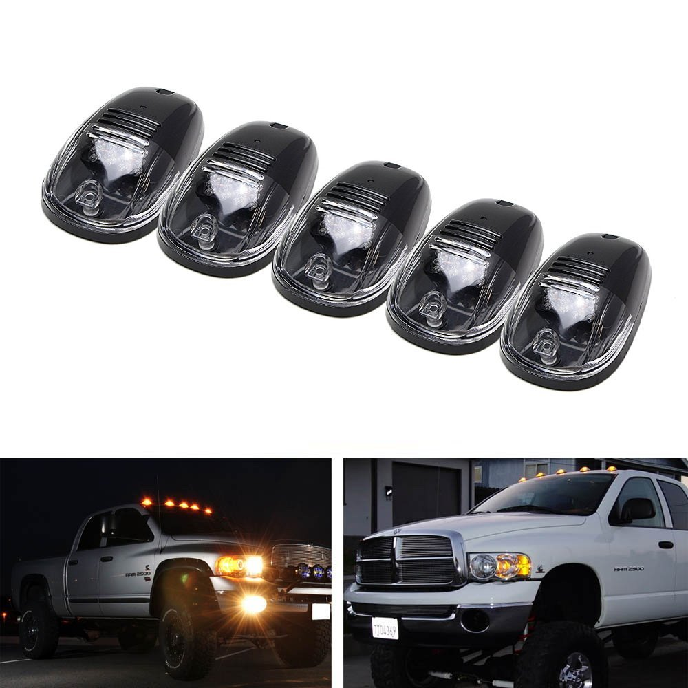 Black Smoked Lens LED Cab Roof Top Marker Running Lights