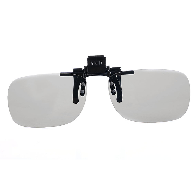 1 Pair Clip On Type Passive Circular Polarized 3D Glasses Clips for 3D TV Movie