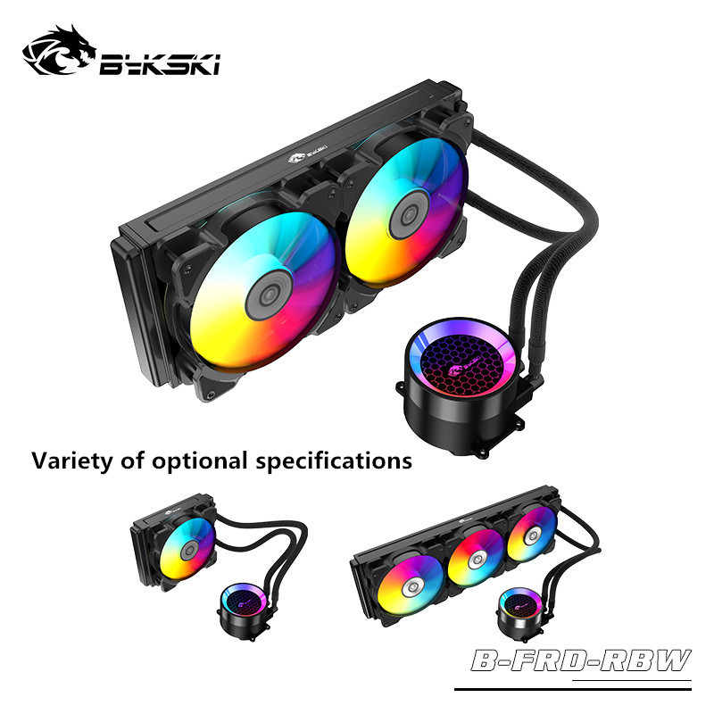 Bykski One-Piece Water Cooling Kit <font><b>120</b></font> 240 RBW 5V <font><b>3Pin</b></font> Support Motherboard D-RGB AURA SYNC New Arrival image