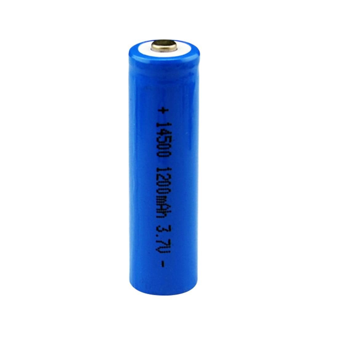Pro 1 pcs/set High Capacitance 14500 Battery 3.7V 1300mAh Rechargeable li-ion Battery for Led Flashlight Batery Battery Newest 1300mah li ion battery