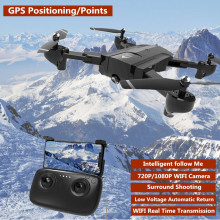 New GPS RC Drone FPV Follow Me Quadcopter adjust Angle 1080P HD WIFI Camera Altitude Hold Intelligent RC Helicopter vs S30W X28