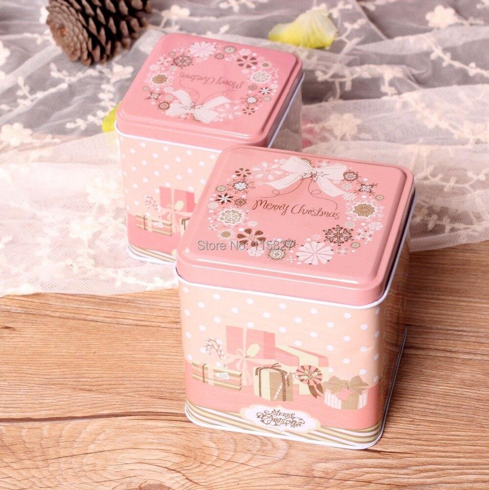 Free Shipping!Pink color Christmas Gift Box 2014 New Design Metal ...