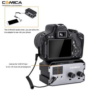 Image 4 - Comica CVM AX3 XLR Mixer Audio Adattatore Preamplificatore Dual XLR/3.5 millimetri/6.35 millimetri Porta Miscelatore per Canon Nikon fotocamere REFLEX Digitali e Videocamere