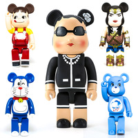 28CM Bear Doll Vinyl Collectible Model Toys Brick 400% Action Figure Collections Gifts
