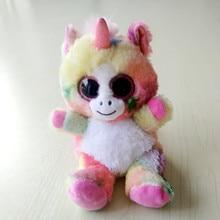 1PC 15CM BIG EYE Unicorn Mobile phone holder seat Stuffed animals Unicornio Toys For Children