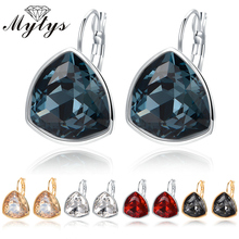 Mytys Geometric Round Triangle Crystal Earring Dangle Drop GP Earrings CE191 CE192 CE193 CE194 CE195