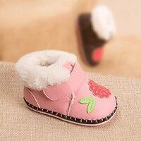 Karikatür 6-18 ay bebek yürüyor ayakkabı, 0-1 yaşında Kış el yapımı pamuk ayakkabı, kaymaz, sıcak Tutmak,