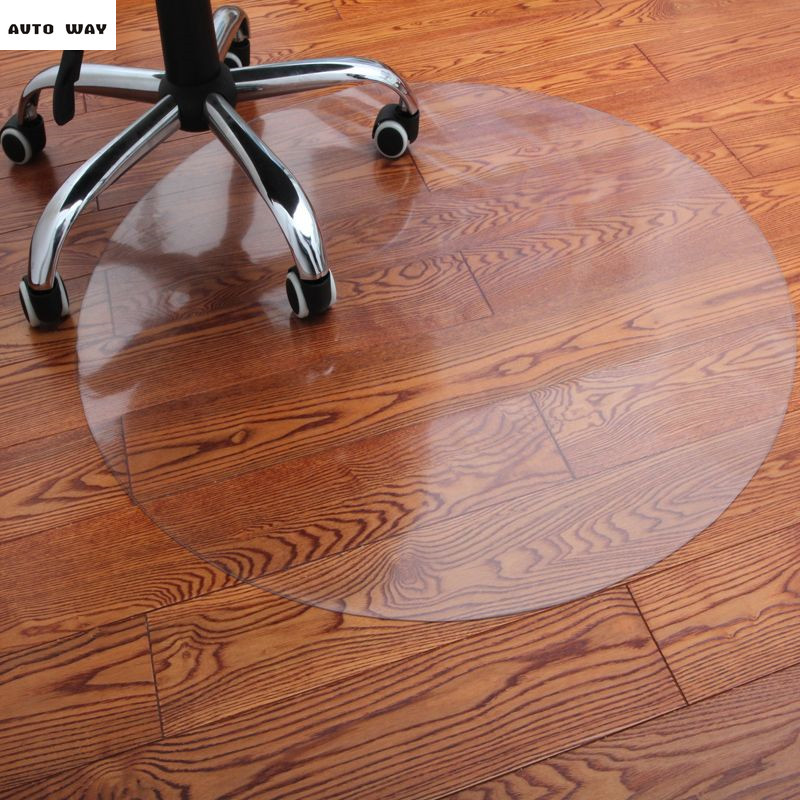 Wooden floor Protection pad PVC Transparent mat Computer swivel chair Coffee table carpet Furniture mats 1.5mm soft glass sheet