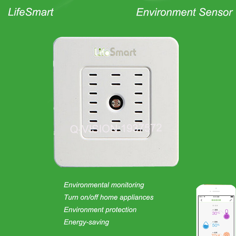 Lifesmart Smart Home Environment Multi Sensor Temperature Humidity Illumination Detector WiFi Remote Control By IOS Android