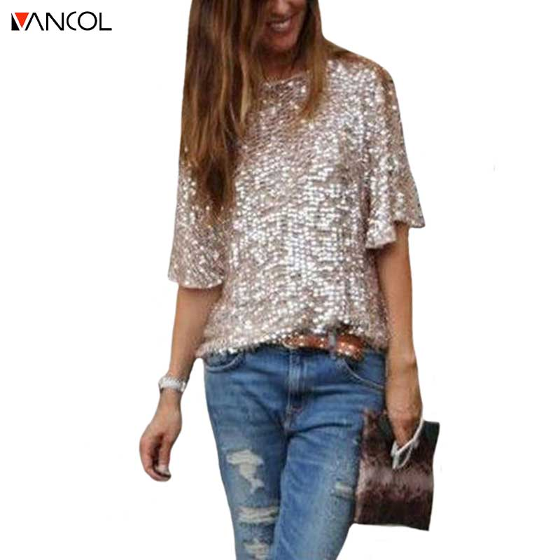 Vancol 2017 plus size woman tops tee brand designer half for Designer tee shirts womens