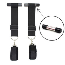 Restraints Strap Sling Fetish Kit Erotic Sex Furniture Toys For Couples Door Window Hanging HandCuffs Ankle Cuffs Tie In Bed