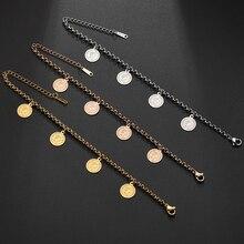 Хобборн Королева Великобритании женский браслет из нержавеющей стали Elizabeth II звено цепи монета женские браслеты Pulsera ювелирные изделия