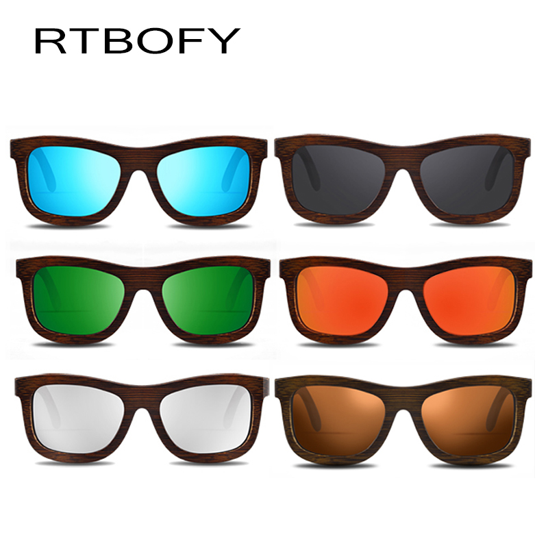 RTBOFY Wood Sunglasses for Men amp Women Polarized Lenses Glasses Bamboo Frame Eyeglasse Vintage Design Shades UV400 Protection in Men 39 s Sunglasses from Apparel Accessories