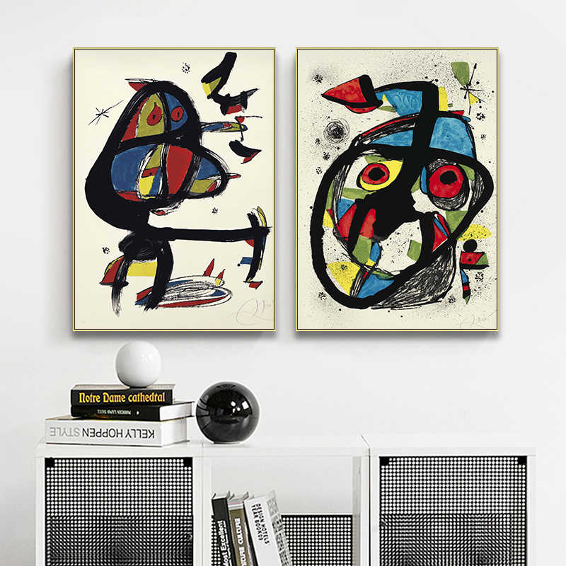 Modern Fashion Vintage Vogue Abstract Decoration Canvas Print Painting Poster Art Wall Pictures for Living Room Home Decor