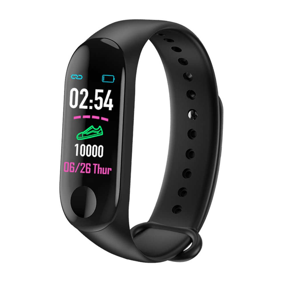 M3 0.96 Inch Smart Wristband  IP67 Waterproof Fitness Bracelet Big Color Screen OLED Message Heart Rate Blood Pressure SmartbandM3 0.96 Inch Smart Wristband  IP67 Waterproof Fitness Bracelet Big Color Screen OLED Message Heart Rate Blood Pressure Smartband