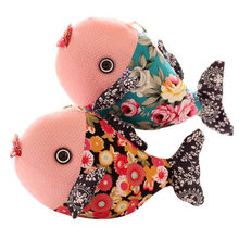 kawaii fish cartoon Vintage chinese style lovers carp endulge cloth toys small doll handmade cloth doll plush stuffed toys gift