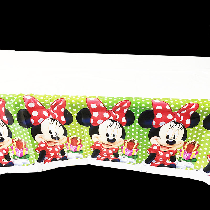 Minnie Mouse Birthday Party Plastic Table Cover Cloth Table Cover Decoration