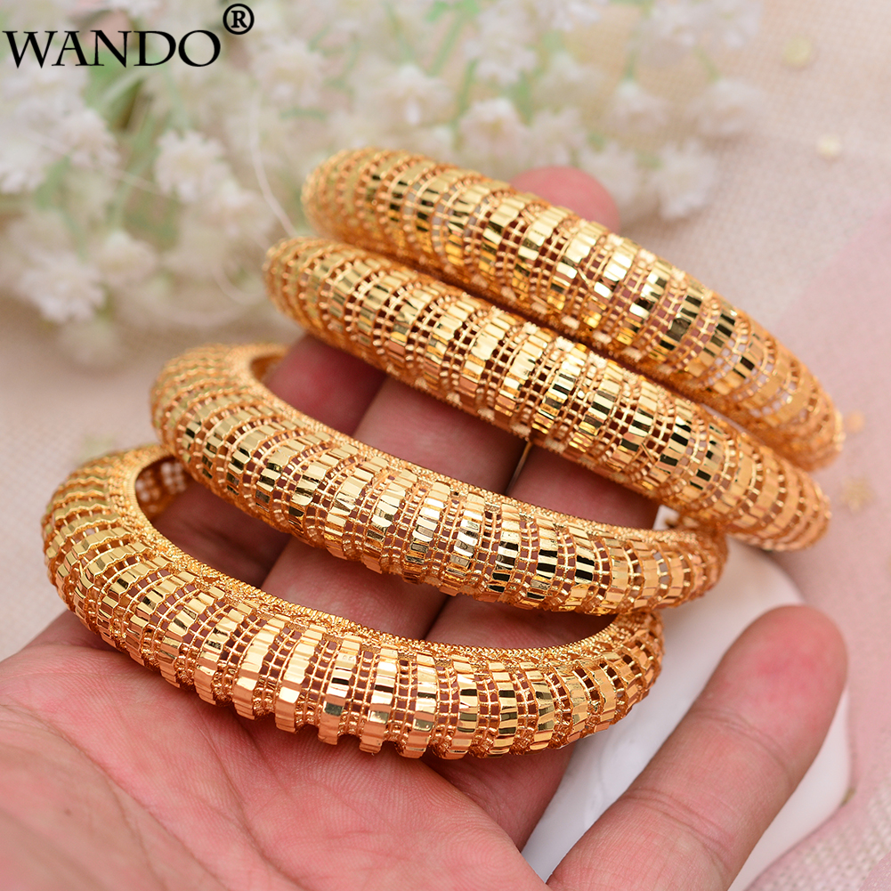 WANDO 4Pcs Dubai Gold...