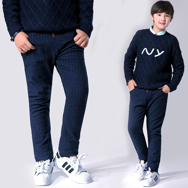 Autumn Winter Trousers Kids Boys Pants 2017 Casual Cotton Elastic Pencil Pants for Boys Children Clothes GH461 new fashion spring autumn elastic high waist jeans female tight fitting skinny pants trousers plus size slim pencil pants