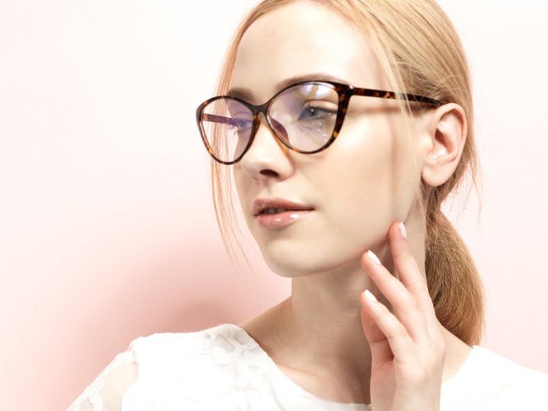 f238f4d0c7 TR 90 Eyeglasses Cheap Cat Eyes Stylish Optical Glasses Frame for Women. Prescription  Lenses Service