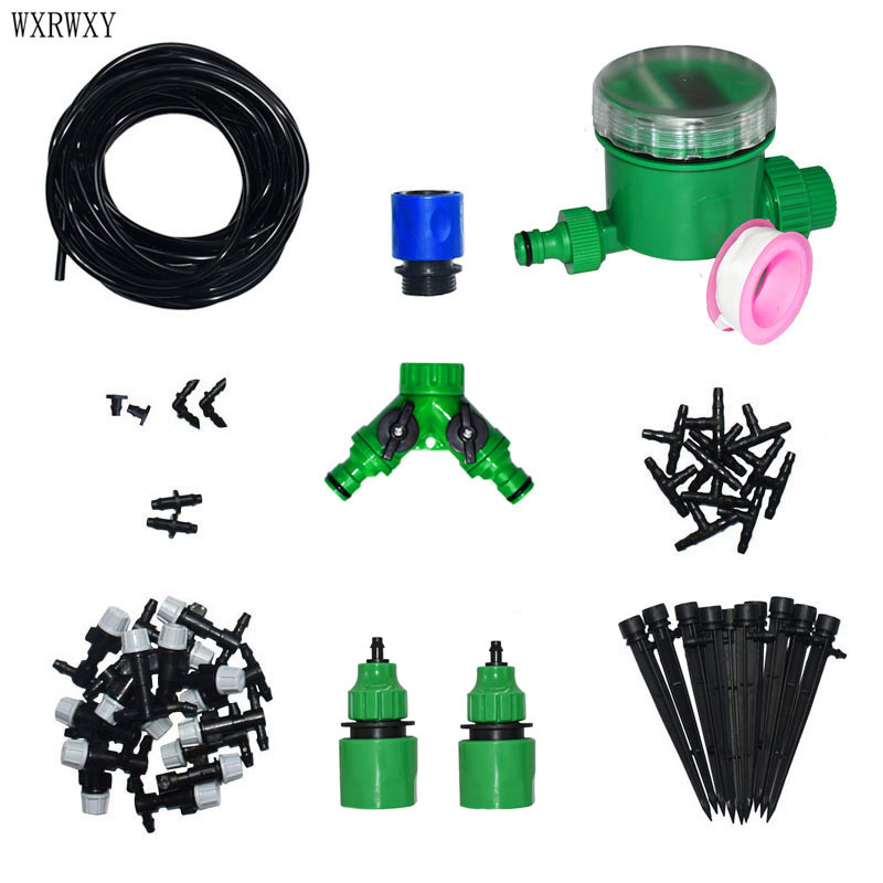 Wxrwxy Kit de riego herramientas de jardinería kit automático Sistema de Riego Jardín de césped rociadores irrigación 1 Unidades