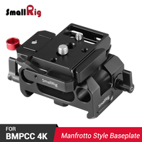 SmallRig BMPCC 4K Camera Plate Baseplate for Blackmagic Design Pocket Cinema Camera 4K ( for Manfrotto 501PL ) W/ 15mm Rail Rod