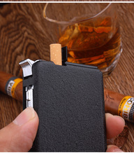 Cigarette Case Automatic Lighter Ejection Butane Windproof Metal Box Holder Smoking Cigarettes Dispenser No Fuel NO Gas