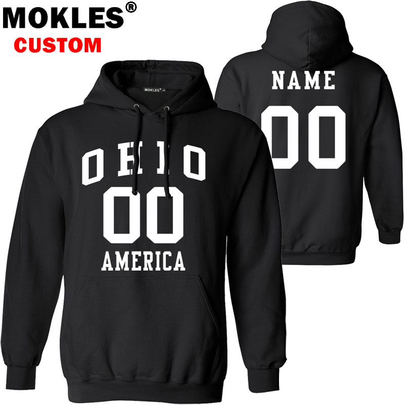 OHIO pullover free custom name number US winter OH jersey keep warm Cleveland Cincinnati Sandusky flag america Columbus clothing