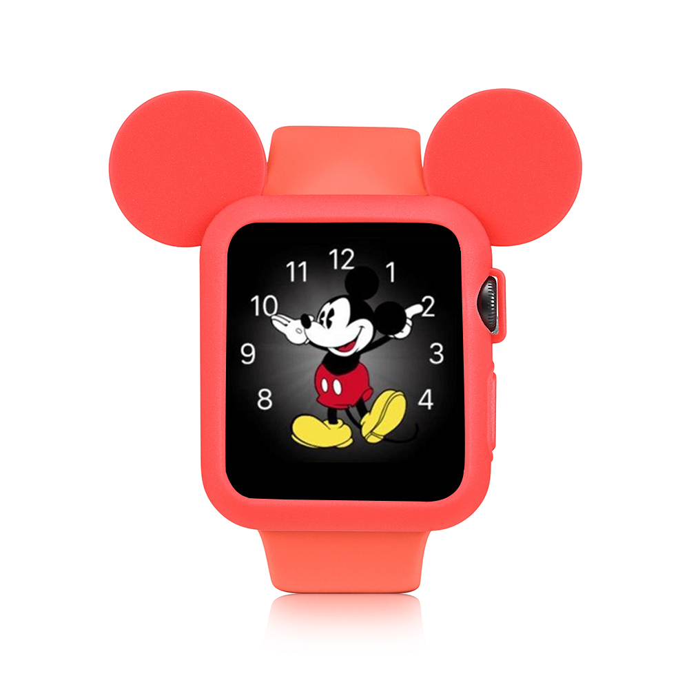 Hello Kitty Minnie Cartoon Watch Clock for iWatch Series 123 for Apple Watch 38mm 42mm, Cute Mickey Mouse Ears and Bunny Ears 12pcs hair accessories mickey minnie mouse ears solid black sequins headbands headwear for boy girl birthday party celebration