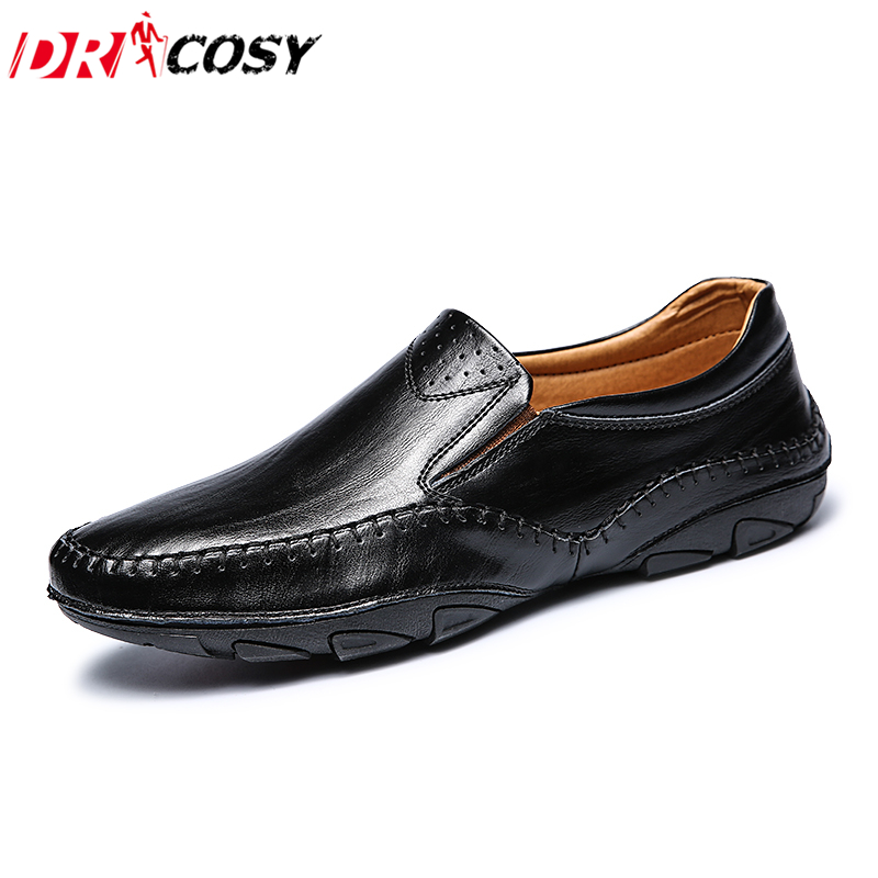 Men Loafers High Quality Genuine Leather Casual Boat Shoes Fashion Slip On Driving Shoes Moccasins Men Flats Gommino Size 38-44 casual shoes 2016 fashion genuine leather loafers moccasins slip on flats shoes black golden sliver 3 colors