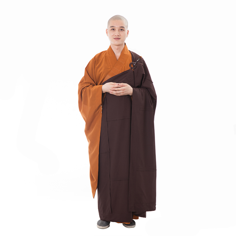 Unisex Buddhist Monk Robe Zen Meditation Costume Robes Shaolin Temple Monk Clothes Kung Fu Uniform Suit jia sha with 7 cambers monk borboniqua monk