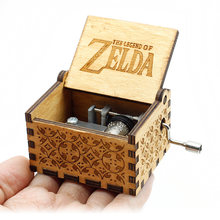 Antico Intagliato A Mano Manovella di Music Box di Legno The Legend Of Zelda Castle In The Sky Lasciate Che Le Go Di Compleanno Di Natale regalo(China)
