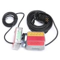 LED Trailer Lights 12 24V Caravan Rear Light 2 Indicator Lamp Led Truck Tail Lights Cable Kits with Magnetic Holder