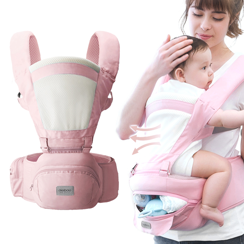 Breathable Front Facing Baby Carrier Comfortable Sling Backpack Pouch Wrap Baby Kangaroo Adjustable Safety Carrier 3-36 Months