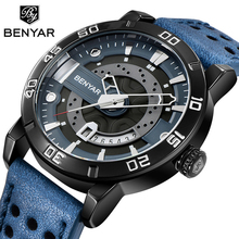 BENYAR 2019 new mens watch fashion business leather quartz top brand l