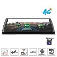 zuczug 10 Touch IPS dashboard 4G Car DVR dash Camera recorder Android rear view Mirror GPS Bluetooth WIFI ADAS Remote monitor