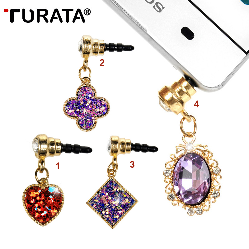 Bling Diamond Universal 3.5mm Diamond Dust Plug Mobile Phone Accessorie