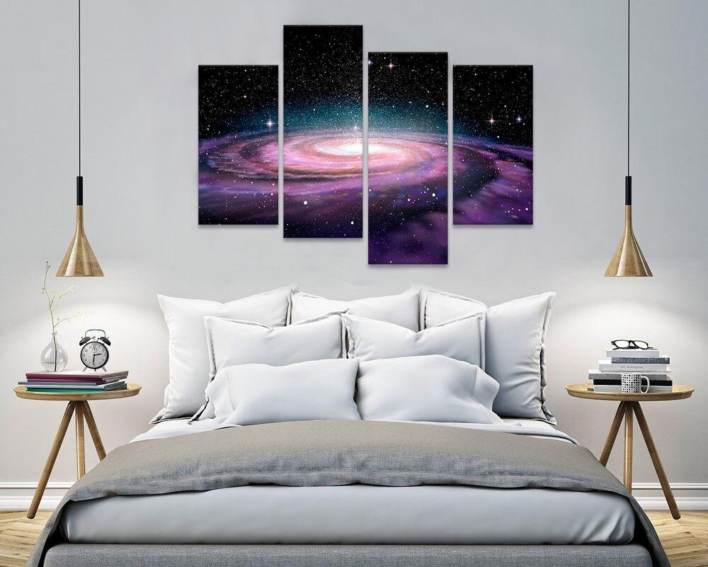 Visual Art Decor Modern Wall Art Galaxy Espaço Imagem Prints Pintura Início  Decoração Da Parede Paisagem Canvs Arte Da Parede Sem Moldura Em Pintura ...