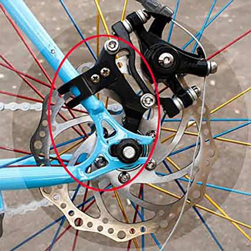 Adjustable MTB Bike Frame Conversion Kit Bicycle Disc V Brake Adaptor Bracket