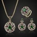 Conjuntos de joyas turcas coloridas de moda para mujer Vintage collar pendiente anillos conjuntos de joyería marca India accesorios para mujeres conjunto